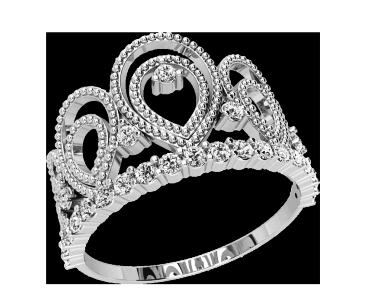 Кольцо  женское серебряное Корона 21146