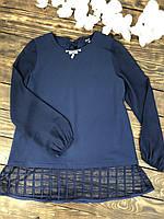 Блузка шифоновая темно-синяя