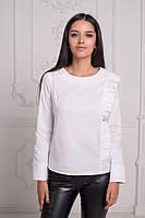 Женская рубашка с оборкой / хлопок / Украина 25-1666-1, фото 1