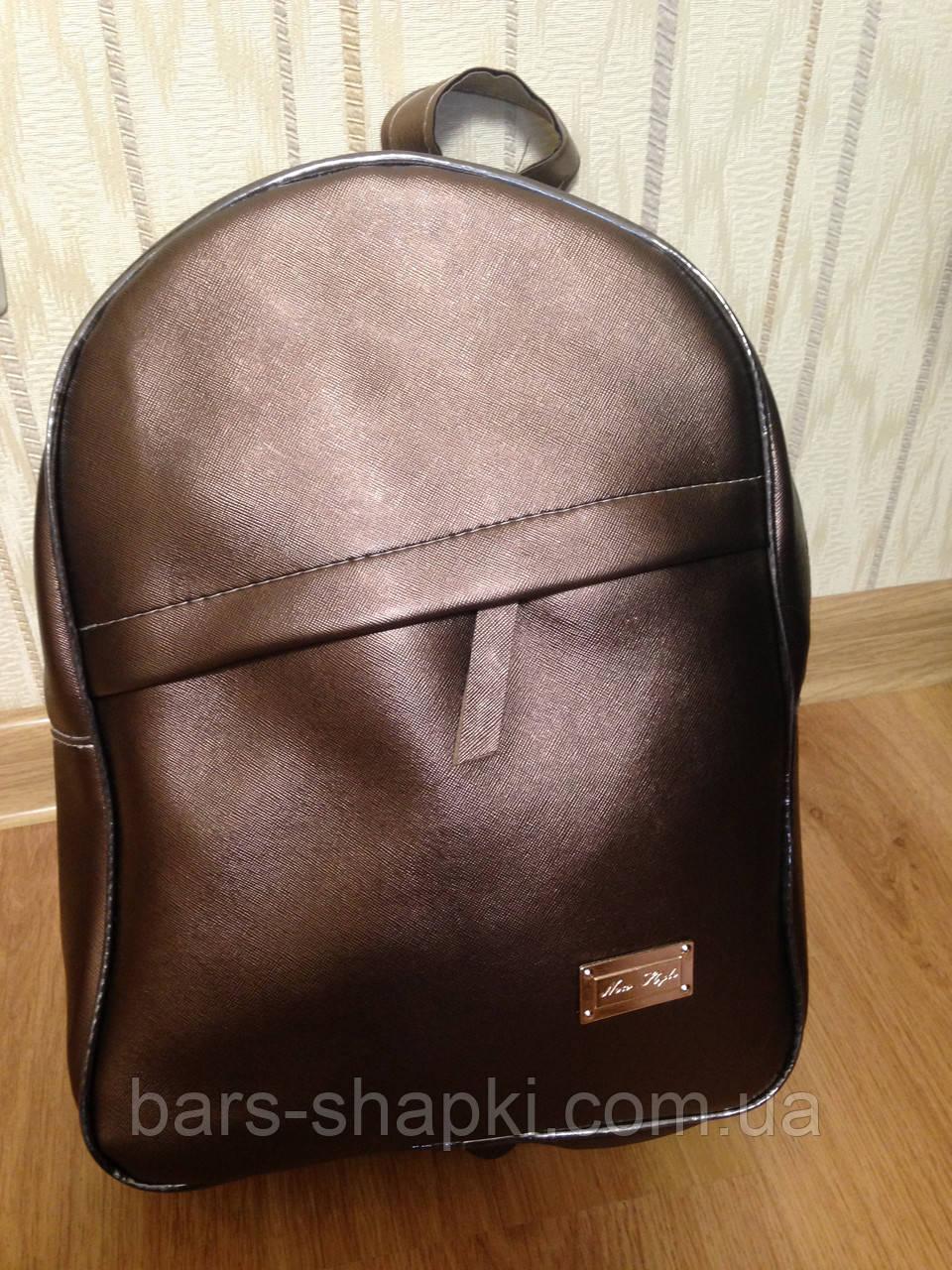 Качественный городской рюкзак, цвет коричневый