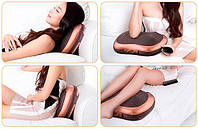 Многофункциональная подушка-массажер (8 роликов + 3 магнита) с ИК-прогревом, фото 1