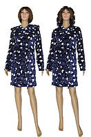 NEW! Молодежные махровые женские халаты серии Mickey Dark Blue ТМ УКРТРИКОТАЖ!