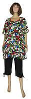 Распродажа! Красивые женские летние повседневные костюмы Darja батал, туника и капри, р.р.62,64,66 всего 320 грн!