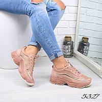 Кроссовки женские Bali пудра 5327 спортивная обувь, фото 1