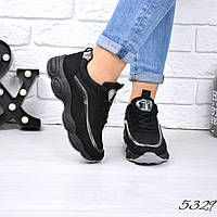 Кроссовки женские Bali черные 5329 спортивная обувь, фото 1