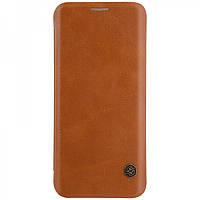 Кожаный чехол-книжка Nillkin Qin Series для Samsung  G955 Galaxy S8 Plus brown