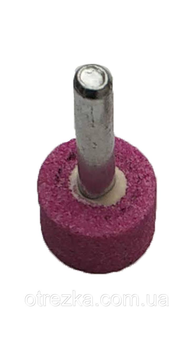Шарошка шліфувальна циліндрична 19х13х6 мм. рожевий корунд