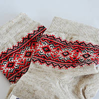 Носки детские льняные с украинским орнаментом Вышиванка 3-4 года (16), фото 1