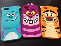 Мультяшные Силиконовый чехол для Iphone 5 и 5S Зверюшки, фото 1