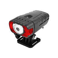 Фонарь велосипедный HJ-050-3W, встр. аккум., ЗУ micro USB, Waterproof, датчик света