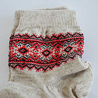 Носки льняные с украинским орнаментом Вышиванка 5-6 лет (18), фото 1