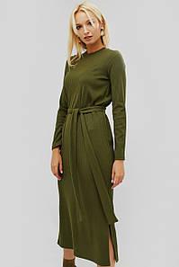"""Платье """"TOVAS"""" оливковый весна-осень"""