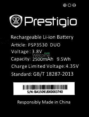 Аккумулятор Prestigio PSP3530 батарея для телефона смартфона