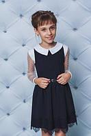 Школьное платье с белым воротничкоми рюшами, фото 1