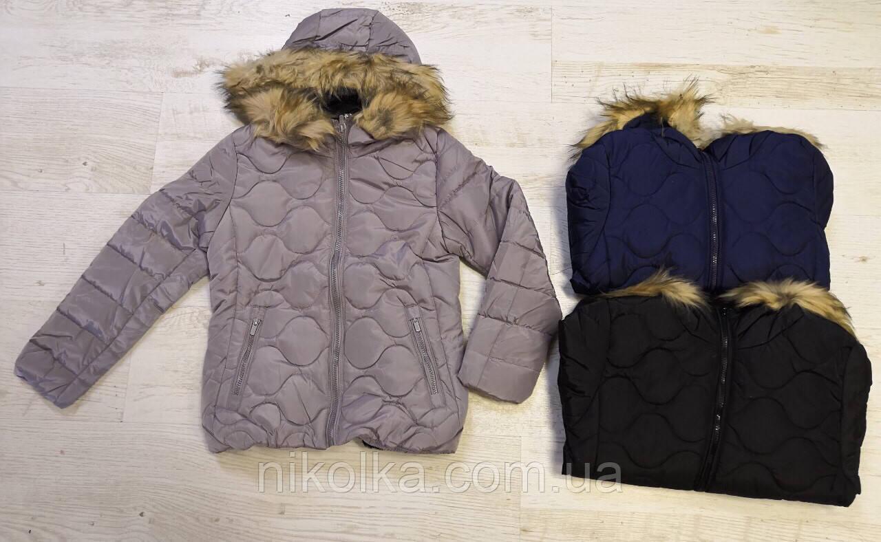 Куртки на меху для девочек оптом, Glo-Story, 134/140-170 рр., арт. GMA-4441