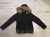 Куртки на меху для девочек оптом, Glo-Story, 134/140-170 рр., арт. GMA-4441, фото 4