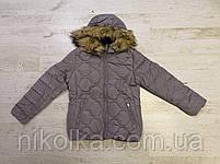Куртки на меху для девочек оптом, Glo-Story, 134/140-170 рр., арт. GMA-4441, фото 2