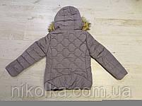 Куртки на меху для девочек оптом, Glo-Story, 134/140-170 рр., арт. GMA-4441, фото 6