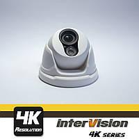 MULLWIDE-2160D внутренняя 8MP видеокамера,угол обзора 160°Ик 60метров