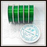 Проволока диам. 0,3 мм цвет зеленый.(упаковка 10 бобин), фото 2