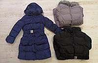 Плотная удлиненная куртка на девочек  Glo-story, 134/140-170 pp.,арт.GMA-4435