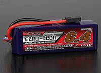 Аккумулятор Turnigy nano-tech 6400mah 3S 40~80C Lipo Pack (TRA285, подходит к Stampede/Rustler/Bandit)