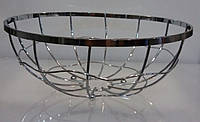 Корзина {ваза} нержавеющая круглая для фруктов H 100 мм (шт)