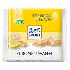 Шоколад Ritter Sport (Риттер спорт) лимон желтый белый мини 16,67г