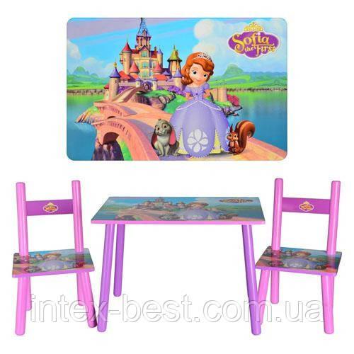 Детский столик с двумя стульчиками Bambi M 2261