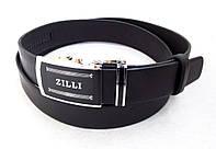 Мужской брючный кожаный ремень-автомат ZILLI, фото 1