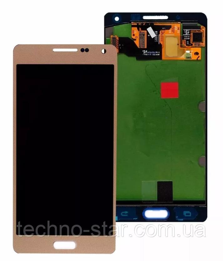 Дисплей (модуль)+тачскрін (сенсор) Samsung Galaxy A5 A500 A500F A500H A5000 (золотий, яскравість не
