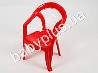 Кресло детское со вставкой №1, цвет красный
