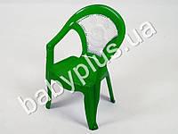 Кресло детское со вставкой №1, цвет зеленый