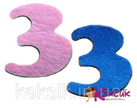 Фетровая цифра 3