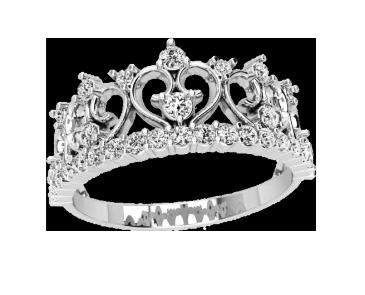 Кольцо  женское серебряное Корона 21151