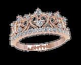 Кольцо  женское серебряное Корона 21151, фото 2