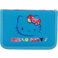 Пенал школьный Kite Hello Kitty 622 1 отделение, 2 отворота, без наполнения