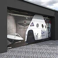 Секційні ворота kruzik 3250x2250 дизайн V-профіль, фото 1