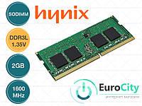 Оперативная память SK hynix SODIMM DDR3L-1600 2GB PC3L-12800S 1.35V (HMT325S6EFR8A-PB) Модуль ОЗУ для Ноутбука