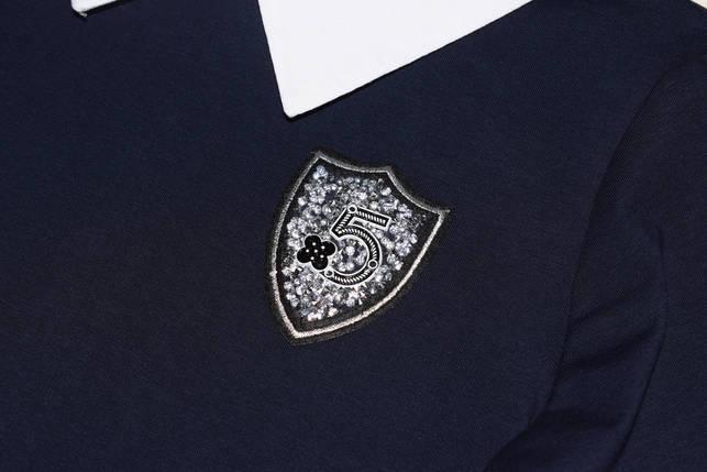 Платье школьное синее 140 146 152 158 164 170 176, фото 2