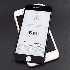 5D защитное стекло для Iphone 7/8 цвет черный
