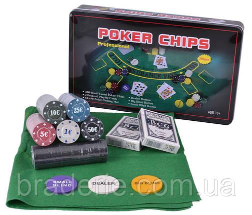 Набор для покера 300 фишек с номиналом, фото 2