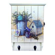 Ключница деревянная с вешалками для одежды