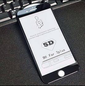 5D защитное стекло для Iphone 7/8 Plus  цвет черный