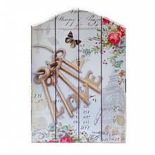 Ключница из дерева для декора