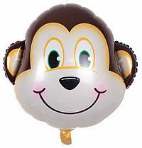 Шар Воздушный Фольгированный Шарик Надувной Фигура Обезьяна 50 см Голова Животные Шары MK 1332