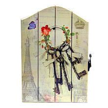 Деревянная ключница на стену