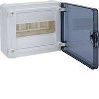 Распределительный щит внешней установки на 8 мод.(1х8), GOLF, с прозрачной дверцей