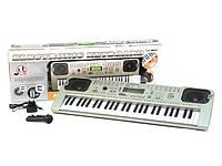 Детский синтезатор MQ 807 USB,54 клавиши,экран,микрофон,сеть