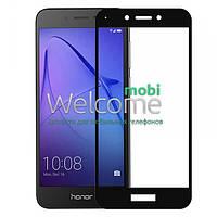 Защитное стекло HUAWEI Honor 6A (0.3 мм, 2.5D, с олеофобным покрытием) black Хуавей Хонор 6А